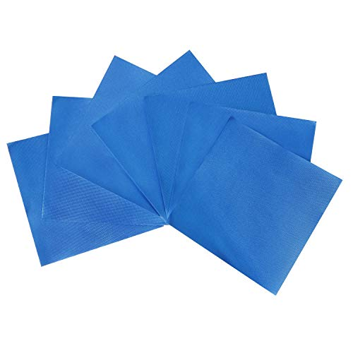 Blue Foil Candy Wrappers - Webake Chocolate Candy Wrappers Aluminium Foil 100 Piece For Homemade Caramel, DIY Candies, Chocolate, Fudge and Brownies 4 x 4 Inch (Blue)