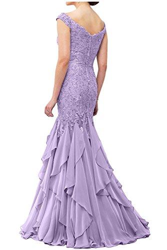 Lawender Abendkleider Lang Braut Etuikleider Pink Abschlussballkleider Spitze La Brautmutterkleider Ballkleider mia Meerjungfrau qEOXwXt