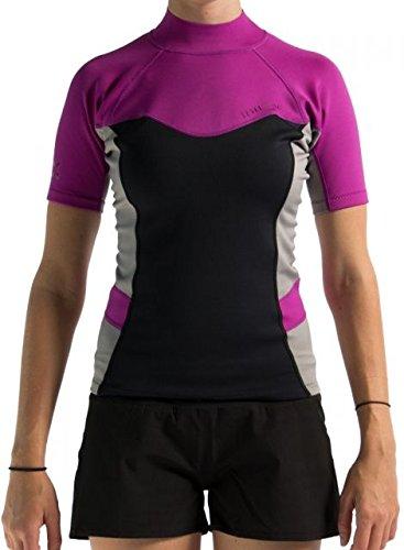 Level Six Women's Sombrio Shorts Sleeve Neoprene Rashguard, Large, Aubergine by Level Six
