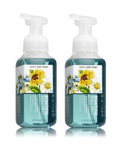 Bath and Body Works Gentle Foaming Hand Soap, Beautiful Blue Skies 8.75 Ounce (2-Pack)
