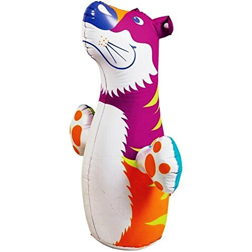 - (Ship from USA) 3D Bop Bag Pink Tiger - Inflatable Blow Up Punching Bag Toy,Gift, For Kids Fun -ITEM#: G15/uiF982A2937