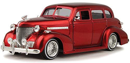 Model Chevy Deluxe (1939 Chevy Master Deluxe, Red - Jada 98914-MJ - 1/24 Scale Diecast Model Toy Car)