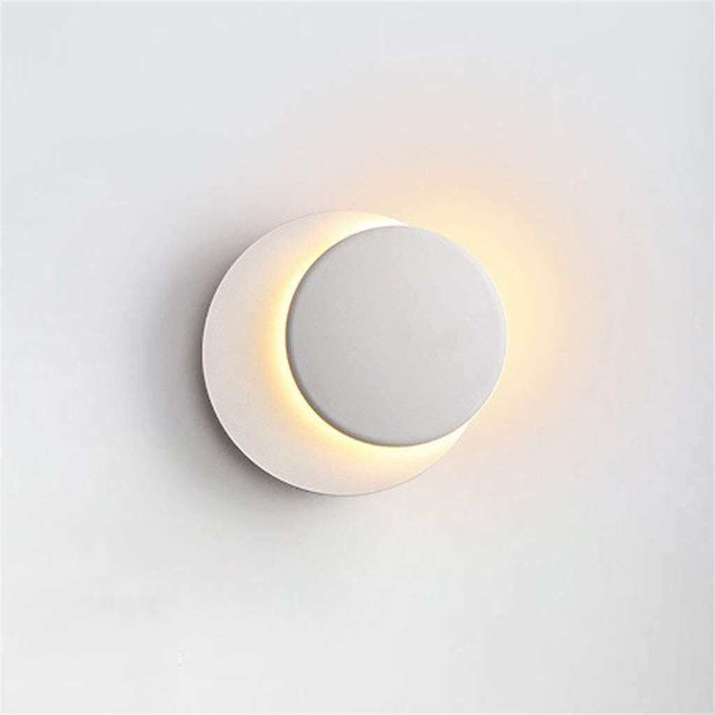 Weiß WYFLY Drehbare Aluminium Wandleuchte-Wohnzimmer Schlafzimmer Hotelzimmer Nacht Gang Wandleuchten - 5W (warmes Licht)