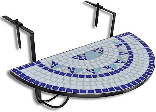 Mosaico mesas de la terraza semicirculares mesa plegable,A