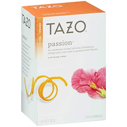 - Tazo Tea Herbal Passion Tea, 20 Tea Bags per Box (Pack of 3 Boxes)