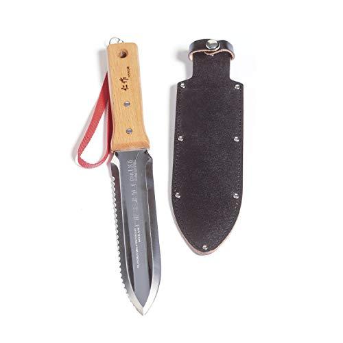 Nisaku NJP651 Hori Weeding & Digging Knife-Hardened HRC58 Edition, Authentic Tomita (Est. 1960) Japanese Stainless Steel, 7.25