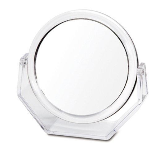 Danielle Creations Ultra Vue Collection Clear Acrylic Easel Style Vanity Mirror, 10x Magnification