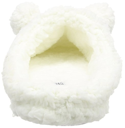 Spot On Pom Pom Fluffy Mule - pantuflas con forro cálido de sintético mujer blanco - Off White (Off White)