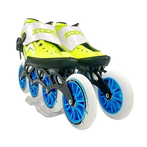 割れ目方言スタッフailj スピードスケート靴4 * 120MM調整可能なインラインスケート、ストレートスケート靴(3色) (色 : Red, サイズ さいず : EU 39/US 7/UK 6/JP 24.5cm)