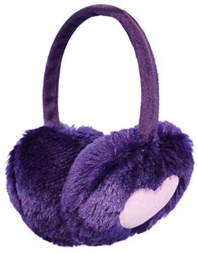 Simplicity Women's Faux Fur Heart Design Plush Winter Earmuffs