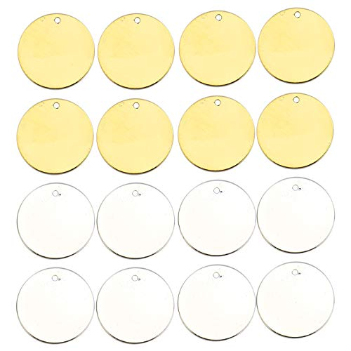 - WSSROGY 20Pcs Round Brass Blank Stamping Tag Pendants for Bracelet Earring Pendant Charms & Holiday Wedding Home Decoration