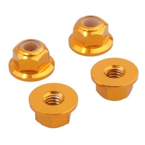 Gozebra(TM) M4 Nylon Lock Nut 4P AXA1045 Gold For RC Axial Racing AX10 Scorpion Rock ()