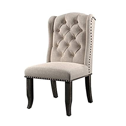 Fabulous Amazon Com Furniture Of America Stanton Fabric Padded Side Home Interior And Landscaping Spoatsignezvosmurscom