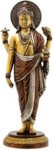 Dattatreya Dhanvantari   The Physician of Gods   Brass Statue, Height 19 inches