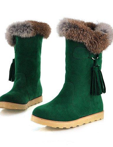 Green De Plataforma Zapatos Nieve Uk5 Semicuero Comfort Cn38 5 negro 5 us7 Vestido Mujer Green Oficina Casual Marrón us5 Cn34 Uk3 Eu35 Uk Trabajo Y Eu38 Xzz Botas Z5tqwdw