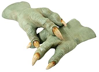 Star Wars Revenge Of The Sith Deluxe Yoda Hands, Green, One Size