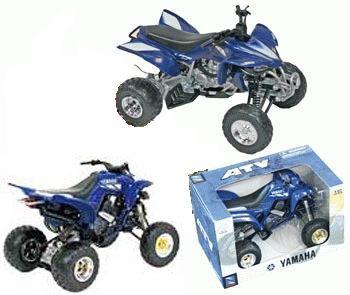 Yamaha Atv Models - Diecast ATV with Working Suspension, 4-pc Set: (Suzuki, Yamaha, Kawasaki, Honda) 1:12 Scale
