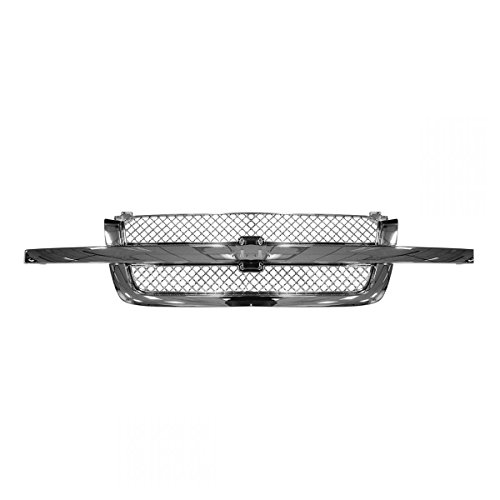 Grille All Chrome for Chevy Silverado Pickup 1500 2500 3500 Avalanche ()