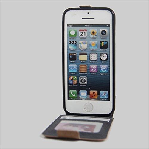 Funda iPhone 5/ iPhone 5S/ iPhone SE,Manyip Caja del teléfono del cuero,Protector de Pantalla de Slim Case Estilo Billetera con Ranuras para Tarjetas, Soporte Plegable, Cierre Magnético F