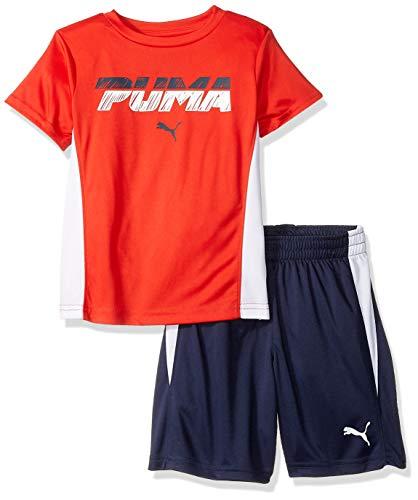 PUMA Little Boys' T-Shirt & Short Set, High Risk Red, ()