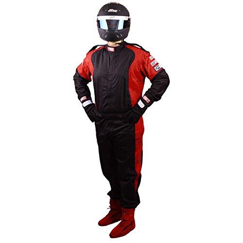 Race Piece Suit 1 (Racerdirect RJS Racing SFI 3.2A/1 Elite 1 Piece FIRE Suit Race Black & RED Size Adult 3X)