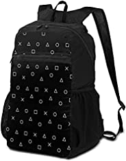 Ultra Lightweight Packable Backpack Foldable Hiking Daypack for Travel Outdoor Camping Backpack(Black Gaming P