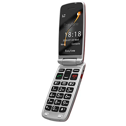 Easyfone Prime A1 3G Unlocked Flip Cell Phone