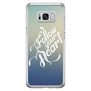 Samsung S8 Plus Transparent Edge Case Follow Your Hear -Multicolor