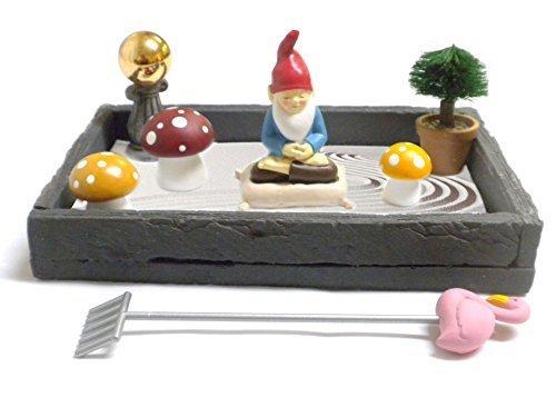 Gnome in the Home Tabletop Zen Garden by CAS