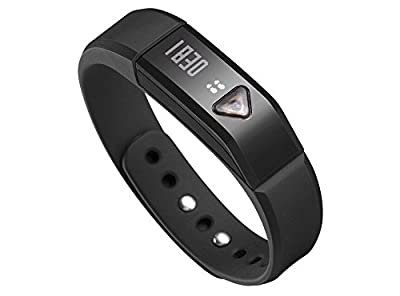 Toprime174; Activity Tracker Smart band Pedometer PDM1102 with OLED Screen Tracking Steps,Distance,Calories and Monitoring Sleep Quality for Iphone and Android Smartphones,Black