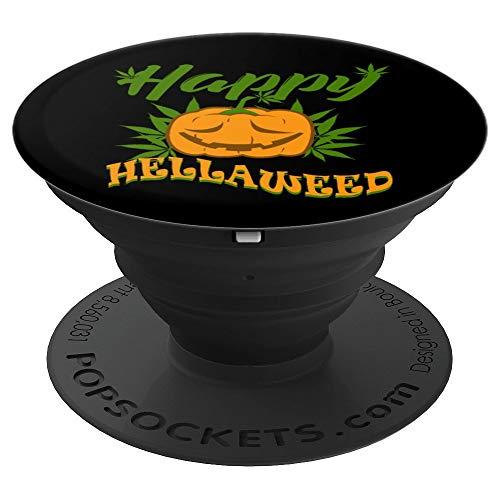 Happy Hellaweed Marijuana Halloween Weed Funny 420 -