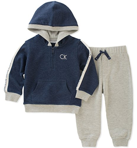 Calvin Klein Baby Boys 2 Pc French Terry Hoodie Sets