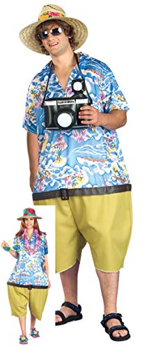 Forum Novelties Unisex Tropical Tourist Costume, Qty 1