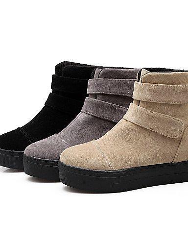 A Zapatos Vestido Gris Eu40 us9 5 Redonda Botas Uk7 Beige Xzz Eu42 Punta Negro Moda Cn43 La Uk8 us10 Cn41 De Casual Vellón Beige Gray Plataforma 5 Mujer 0qfvfdx6