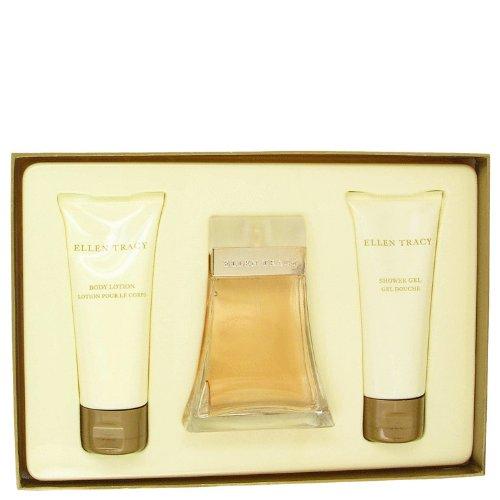 Ellen Tracy Gel Perfume - Ellen Tracy By Ellen Tracy Gift Set -- 3.4 Oz Eau De Parfum Spray + 3.4 Oz Body Lotion + 3.4 Oz Shower Gel For Women