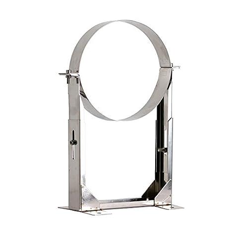 Shieldmaster 12,7 cm (125 mm) 130 - 210 milímetros soporte de pared ajustable de pared térmica doble tubo para chimenea - acero inoxidable: Amazon.es: Hogar