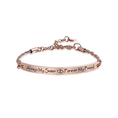 Inspirational Bracelets Gifts Engraved Personalized Fashion Bangles for Women Girl Sister Mother Friends ()