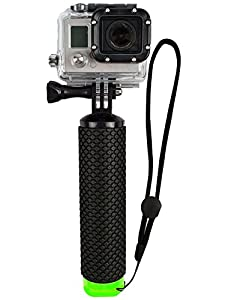 NLSD Waterproof Floating Hand Grip (Floating Pole & Handle & Diving Monopod & Floating Stick)compatible with all GoPro Cameras Hero 4 Session Black Silver Hero 2 3 3+ 4 ...