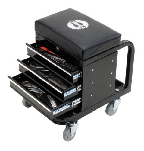 Shinn Fu Company of America Pro Series Tool Box Creeper Seat with Poly Wheels