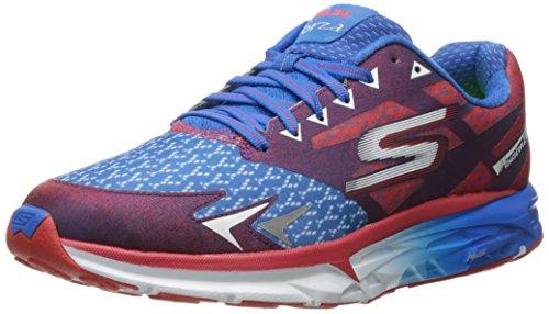 Skechers Performance Men's Go Run Forza Houston 2016 Running Shoe, Red/Blue, 7 M US