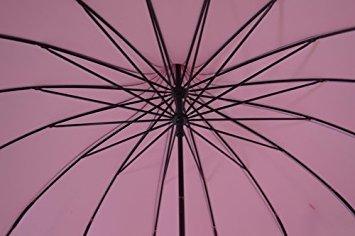 Noir b/âton de pagode Parapluie avec Pois nervur/é