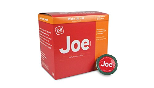 Joe Knows Coffee, Wake Up Joe, Environment Roast, Coffee Pods, 20 Count, Compatible with Keurig 2.0 Brewers