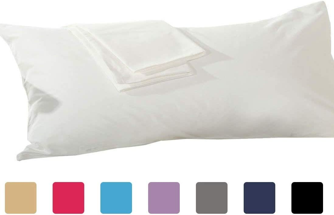 Body Pillowcase Body Pillow Cover 20x54,100/% Cotton,Solid,Dark Gray YAROO Zippered Pillow Cases 1-Pack