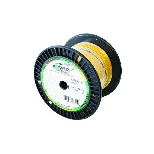 Power Pro 15 lbX3000 Yd Spool HiVis Yellow Braided line