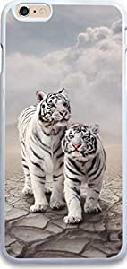 For SamSung Galaxy S4 Phone Case Cover Dseason, High Quality Fashionable Protector Two the lovely white tiger