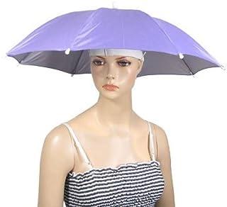 Cappello Ombrello - TOOGOO(R) Copricapo Nylon Ombrello per pesca all'aperto