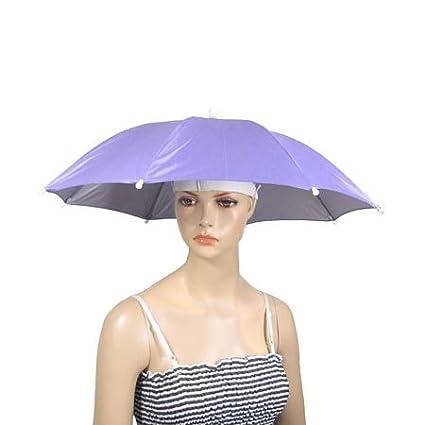 TOOGOO(R)Sombrero paraguas de nylon para pescar al aire libre ... 2ddf9da8088