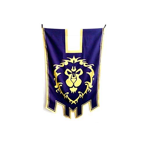 World of Warcraft Horde Alliance Badge Banner Flag Emblem Poster Blue Red by TopStepSales (Blue (Alliance)) (World Banner Warcraft Of)