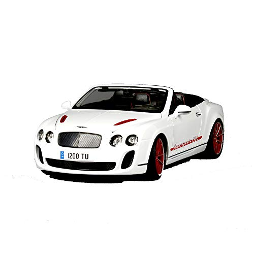 LUCKYCAR 1:18 Bentley ISR Simulation Alloy car Model, Movable Door, Trunk/Engine Compartment Open, Finished Model, 24.5 cm (Color: White) ()
