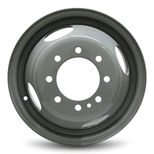 (Road Ready Car Wheel For 1999-2004 Ford F350SD 16 Inch 8 Lug Gray Steel Rim Fits R16 Tire - Exact OEM Replacement - Full-Size)